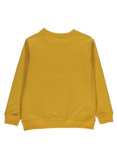 Morhipo Kids O Yaka Baskılı Sweatshirt Hardal